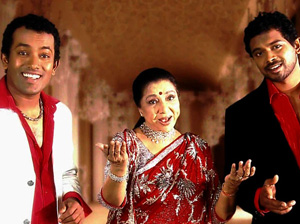 Asha Bhosle with BnS